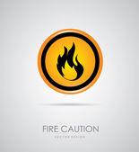 Fire signal — Stock Vector
