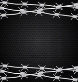 Barbed wire — Stock Vector