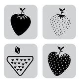 Fruits icons design — Stock Vector
