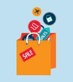 Shopping design  — Stock Vector