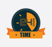Time clock — Stock Vector