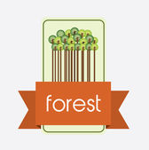 Nature forest design — Stock Vector