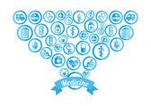 Zdrowe ikony — Wektor stockowy