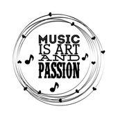 Musical design — Stockvektor