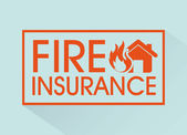 Fire insurance — Stock Vector