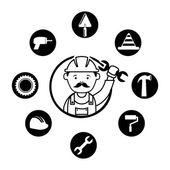 Mechanical design — Stock Vector