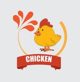 Conception de poulet — Vecteur