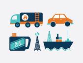 Oil industry design  — Stock Vector