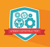 Under konstruktion och design — Stockvektor
