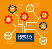 Disegno di industria — Vettoriale Stock