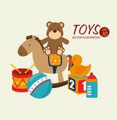 Baby toys design — Stock Vector