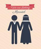Marriage design — Stock Vector