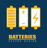 Batterie design — Stock Vector