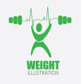 Fitness design — Stockvektor