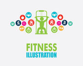 Diseño de fitness — Vector de stock