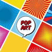 Pop sanat tasarım — Stok Vektör