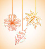 Autumn flowers design   — Vector de stock