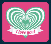 I love you card — Stock Vector