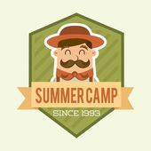 Summer camp design — Stock Vector
