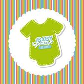 Baby shower design — Vector de stock