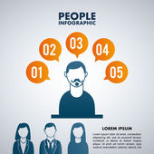People design — Stockvector