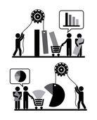 Progettazione di persone — Vettoriale Stock