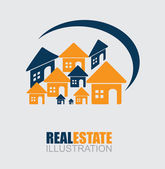 Real estate design — Vettoriale Stock
