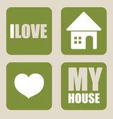 Design per la casa — Vettoriale Stock