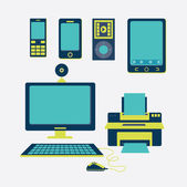 Tecnologia design — Vettoriale Stock