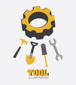 Tools design — Vettoriale Stock