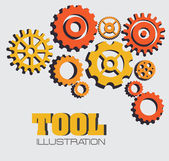 Tools design — Stok Vektör