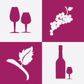 Wine design — Vector de stock