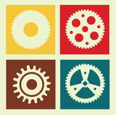 Gears design — Vector de stock