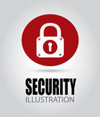 Security design — Vector de stock