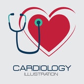 Cardio design — Vector de stock
