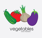 Vegetables design — Vettoriale Stock