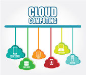 Cloud computing design — Stock Vector
