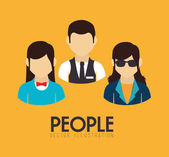 People design — Stock Vector