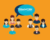 Teamwork design  — Vector de stock