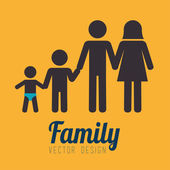 Family design  — Vettoriale Stock