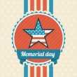 Memorial Day design — Stock Vector
