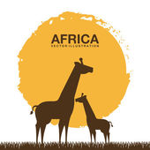 Africa design — Stock vektor