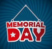 Memorial Day design — Stock Vector