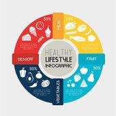 Healthy food design — Stock Vector