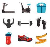 Progettazione fitness — Vettoriale Stock