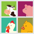 Farm animals design — Stock Vector
