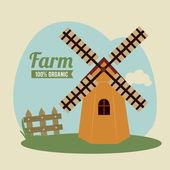 Farm design — Stockvektor