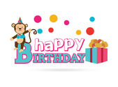 Happy birthday design — Vetorial Stock