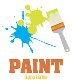 Paint design — Stock Vector