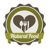 Alimentos orgánicos — Vector de stock